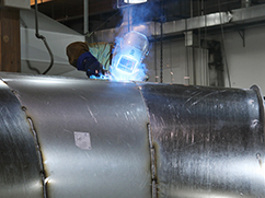 Welding a Large Duct Fitting